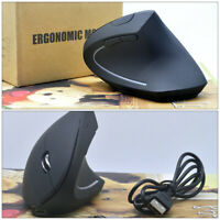 USB Wireless 2400DPI Ergonomic Vertical Gaming Mouse Optical Mice f PC Laptop G1