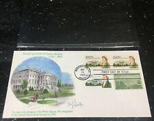 1981 Hoban, Designer-White House-Hand Paint KMC FDC SCOTT 1935-36-LTD ED-SIGNED