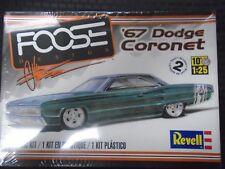 REVELL CHIP FOOSE CUSTOM 1967 DODGE CORONET 426 HEMI PLASTIC MODEL CAR KIT 1/25