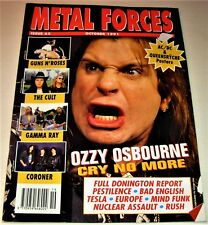 RARE Vintage 1991 METAL FORCES Magazine #65- GUN'S N ROSES,THE CULT,GAMMA RAY