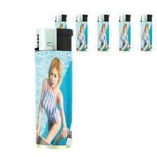 Thai Pin Up Girl D8 Lighters Set of 5 Electronic Refillable Butane