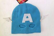 Marvel Men's Captain America Baby Blue Ski Mask Hat Halloween Accessory 16+ NEW