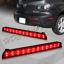 For 2004-2009 Mazda 3 Mazdaspeed3 Red Lens LED Rear Bumper Stop Brake Light Lamp