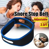 Anti Snoring Snore Stop Belt Cpap Chin Strap Sleep Apnea Jaw Solution TMJ