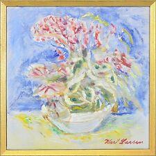 IMPRESSIONIST KARL LARSEN 1897–1977 »BLUMENSTILLLEBEN« PARIS CAGNES 37 X 37 CM