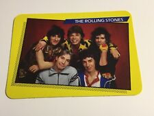 1985 AGI Rock Star Concert Cards #1 The Rolling Stones Non-Sports Card