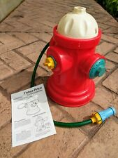 Vtg Fisher-Price 1991 Fun Hydrant Sprinkler with Instructions WORKS GREAT!!
