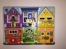 Melissa & Doug Latches Board Educational Numbers & Animals Locks Puzzle