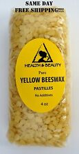 YELLOW BEESWAX BEES WAX by H&B Oils Center ORGANIC PASTILLES BEARDS PURE 4 OZ