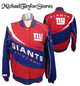 New York Giants NFL Men's Snap-Up Mid Weight Cotton Twill Jacket
