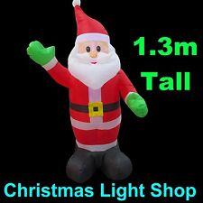 1.3m Tall Inflatable Waving Santa Christmas Outdoor Air Power LED Lights Display