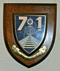 71 Movement Control Squadron Royal Corps of Transport regimental mess plaque RCT