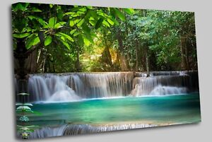 Secret Waterfall Canvas Canvas Wall Art Picture Print