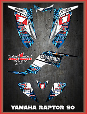 Yamaha Raptor 90 SEMI CUSTOM GRAPHICS FREE CUSTOMIZATION KIT TOON1