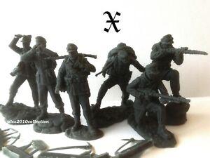 NEW!! HANOMAK,German Mountain Troops,Gebirgsjägers, 6 rubber soldiers1:32