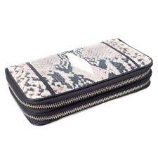 Genuine Stingray Leather Snake Pattern Zip Around Wallet Clutch Wristlet KTM