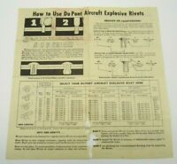 DuPont Directions Pamphlet How To Use Aircraft Explosive Rivets