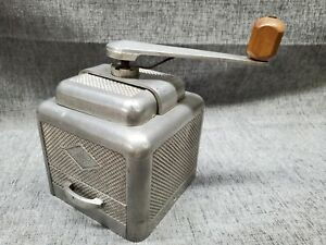 Vintage Moulux French Coffee Grinder Aluminum RARE