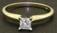 EGL USA 14K gold .50CT Princess diamond solitaire wedding/engagement ring