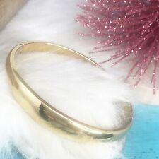 14kt Yellow Gold Shiny Domed Hinged Bangle Bracelet King's World CRICKET BAND