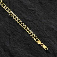 14k Yellow Gold Double Circle Link Charm Bracelet 1.5 gr  7.25 Inch   4.4MM