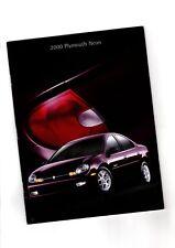 BIG 2000 Chrysler Plymouth Neon Catálogo/CATALOG con tabla de colores: LX