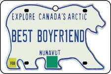NUNAVUT - BEST BOYFRIEND LICENSE PLATE CAR AIR FRESHENER