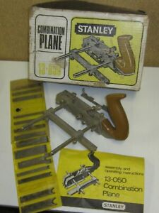 Vintage Stanley 13-050 Combination Plane in box with extra cutters/blades.