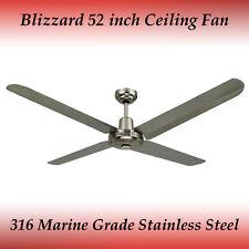 "Blizzard 316 Marine Grade Stainless Steel 1300mm 52"" Outdoor Ceiling Fan"