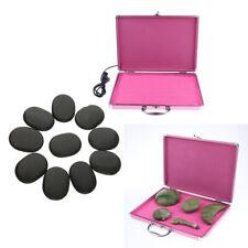 Hot Rock Heating Box Massage Stone Warmer Case Heater +10 Stones Set US Plug