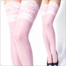 Damen Halterlose trumpfhosen Spitze Strümpfe Stockings Strapsstrümpfe Neu