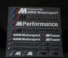 1 set Epoxy ///M Performance Power Motorsport Car Stickers Decals For BMW M3 M5