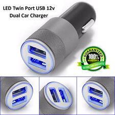 UNIVERSAL TWIN 2 PORT USB 12V DUAL CAR AUTO CHARGER CIGARETTE SOCKET LIGHTER