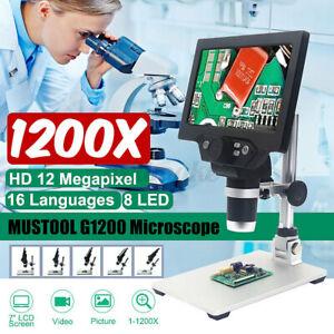 Mustool G1200 Desktop Microscopio Digitale 12MP 7'' LCD Display 1-1200X Lente