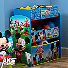 Mickey Mouse Kids Toy Organizer Bin Children's Storage Box Bedroom Disney New