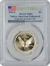 2016-S Sacagawea Native American Enhanced UNC Dollar First Strike SP69 PCGS