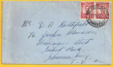 RHODESIA MERIDIONALE 1948 2 x 1d BULAWAYO STAZIONE DI MAGGIO 12 in Sud Africa