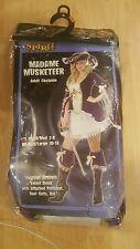Madame Musketeer Adult Costume  Women's Size S/M (2-8) Spirit Halloween Bucaneer