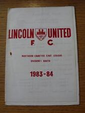 12/11/1983 Lincoln Unidos V borrowash Victoria (arrugada, Rusty Grapa Marca)