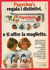 Pubblicità Advertising Werbung 1981 Dentifricio PAPERINO'S la maglietta