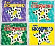 Lot de 4 x Crossword poche Puzzle Adulte Books reliure spirale 192 pages à New