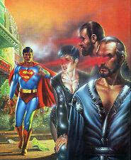 SUPERMAN vs GEN. ZOD, URSA & NON Pin Up PRINT DC British UK