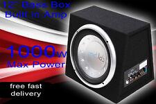 """Coche Subwoofer de 12"""" Bassbox Amplificado Activo construido en amplificador 1000w Barata Bajo Caja"""