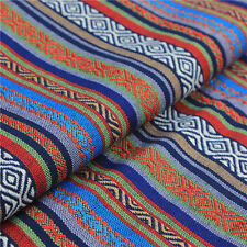 Stripe Tribal Ethnic Cotton Fabric for Upholstery Curtain Table Cloth DIY Craft