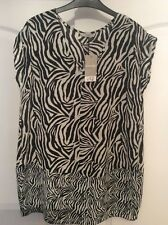 New George Long Lightweight Black & Cream Sleeveless Top Size 10/12