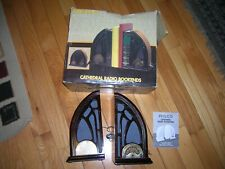 Philco Cathedral Am/Fm Stereo Radio Bookends W /Manual In Box