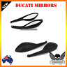 Black rear view side mirrors for Ducati Monster 1100 S EVO 09 10 11 12 2009 2010