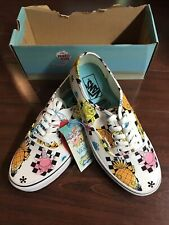 Vans Authentic SpongeBob SquarePants Airbrush Mens 9 / Womens 10.5 White Shoes