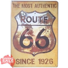 USA Route 66 Novelty Tin Metal Wall Sign for Home Bar Pub or Garage 20x30cm