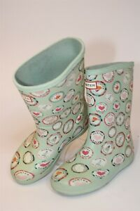 Hunter Youth Girls Size 13 29 First Rock Print Pull On Rain Boots KFT5027RMA